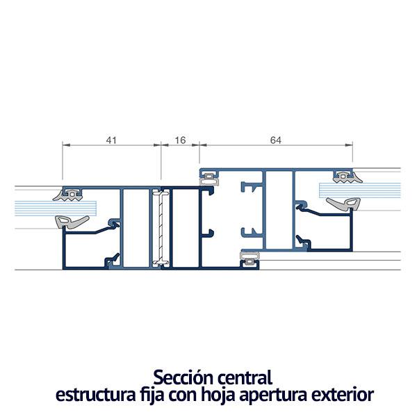 seccion-central-fijo-y-apertura-exterior-serie-thermia-arf35