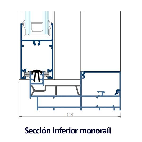 cruce croquis inferior monorail