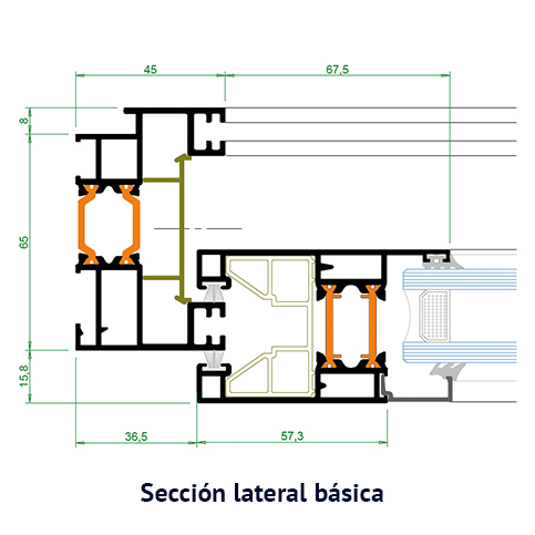 seccion lateral
