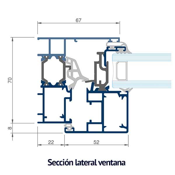 seccion lateral ventana