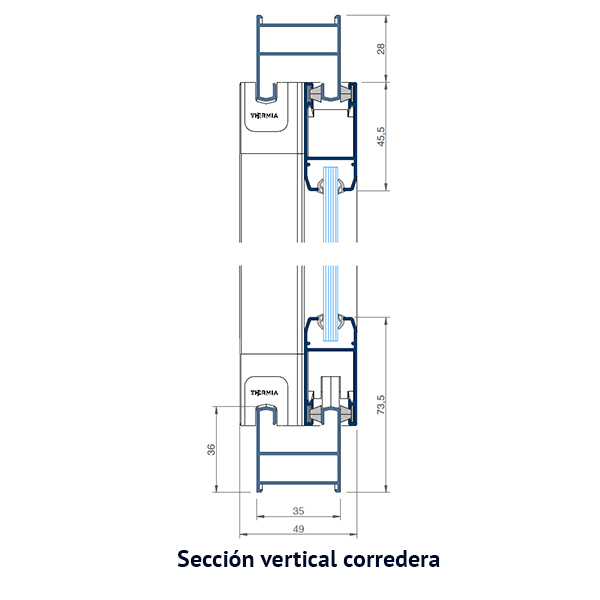 vertical corredera