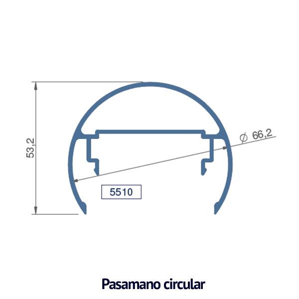 circular pasamano