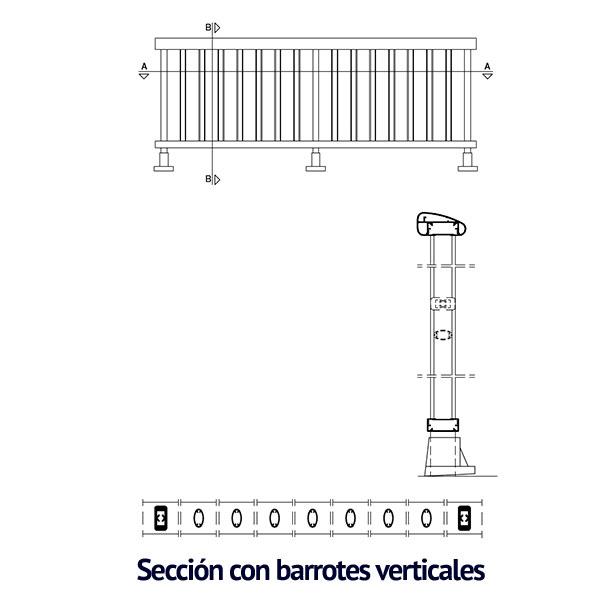 barrotes verticales