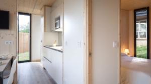 Interior de casa ecológica modelo Oh