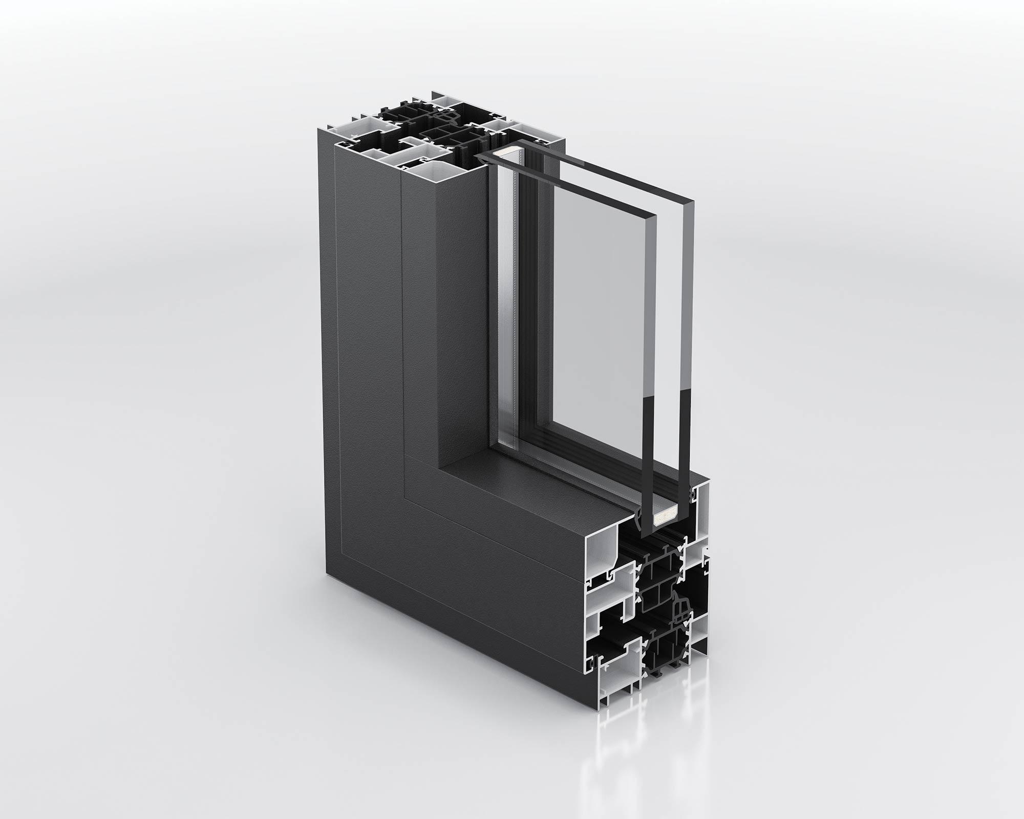 Ventana Thermia-Perfil-AR90-SP
