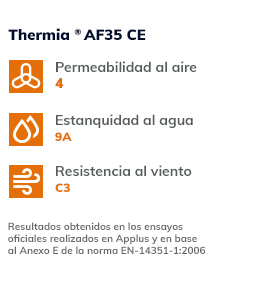 Valores termicos Thermia AF35CE