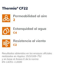 Valores termicos Thermia CF22