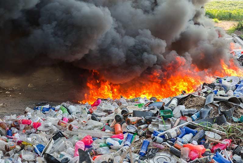 quema de plastico