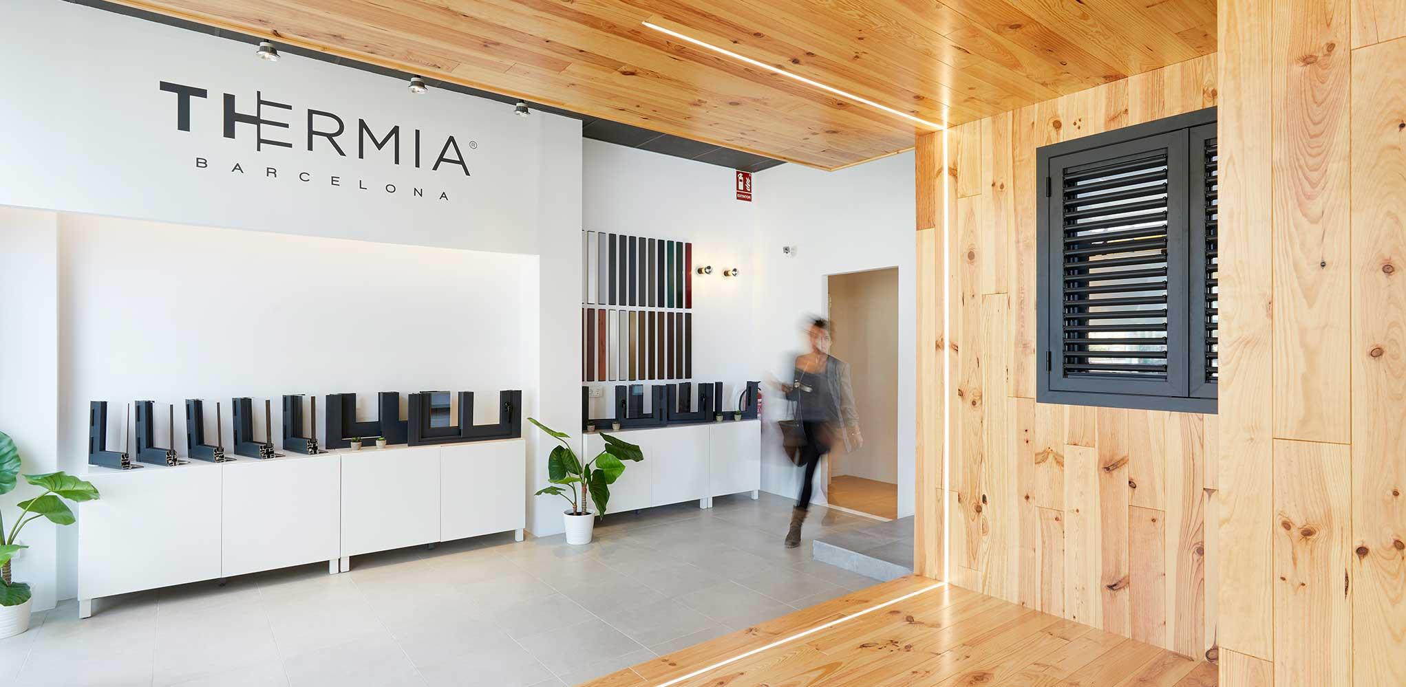 Showroom de ventanas Thermia en Girona, España