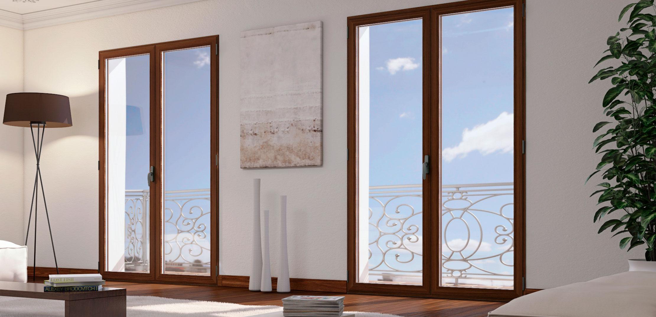 ventanas de aluminio Thermia efecto madera
