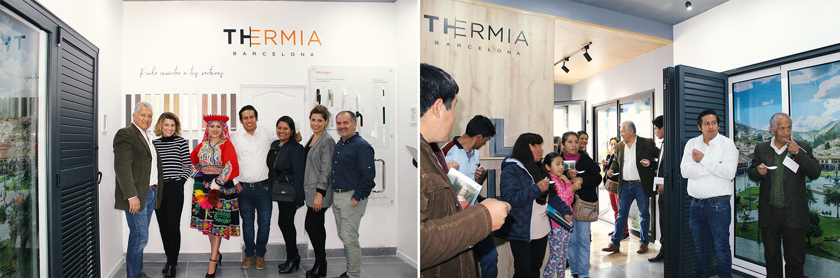 Showroom ventanas aluminio Thermia Cusco