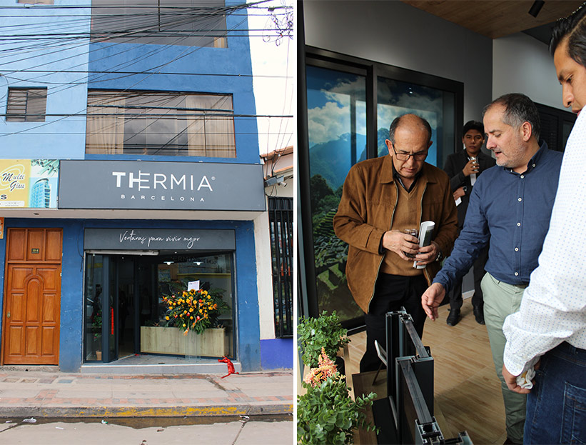 Showroom ventanas Thermia en Cusco