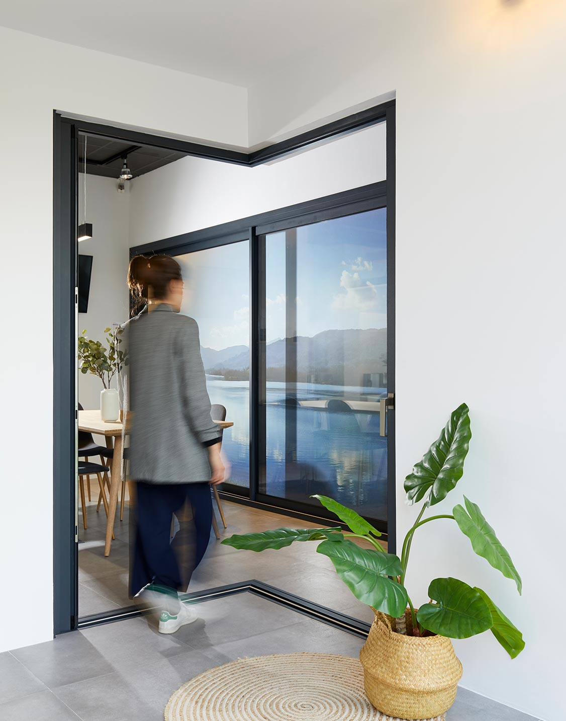 Ventana corredera Thermia CR40 Showroom Girona
