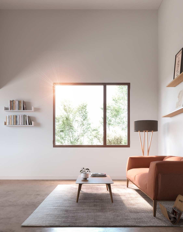 Diseño interior ventana Thermia LUMIA