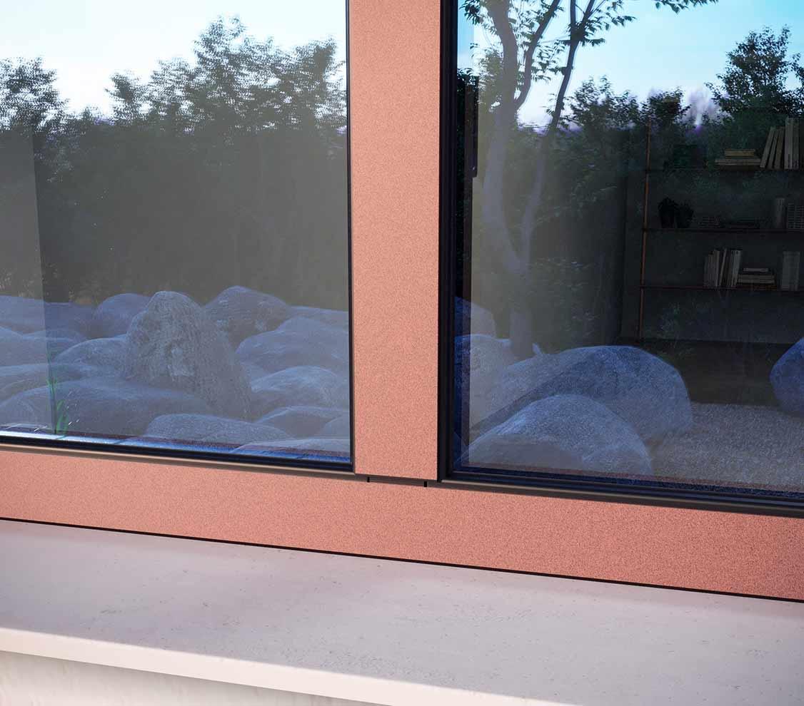 Detalle exterior ventana Thermia LUMIA
